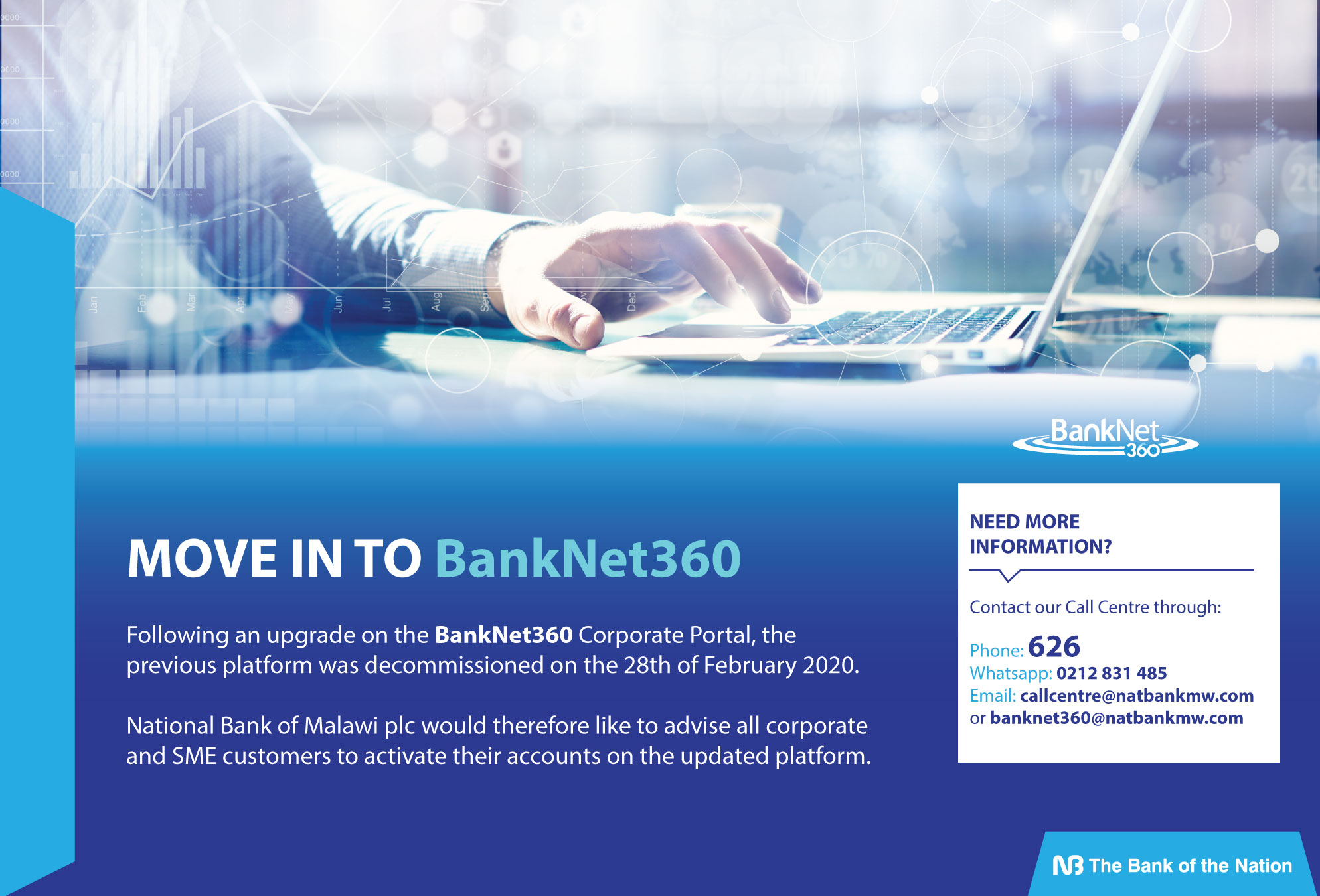 BANKNET360 NOTICE WEBSITE