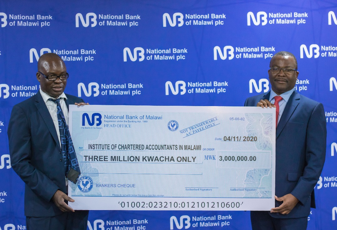 National Bank of Malawi (NBM) plc  supported the Institute of Chartered Accountants' (ICAM) conference with K3 million.